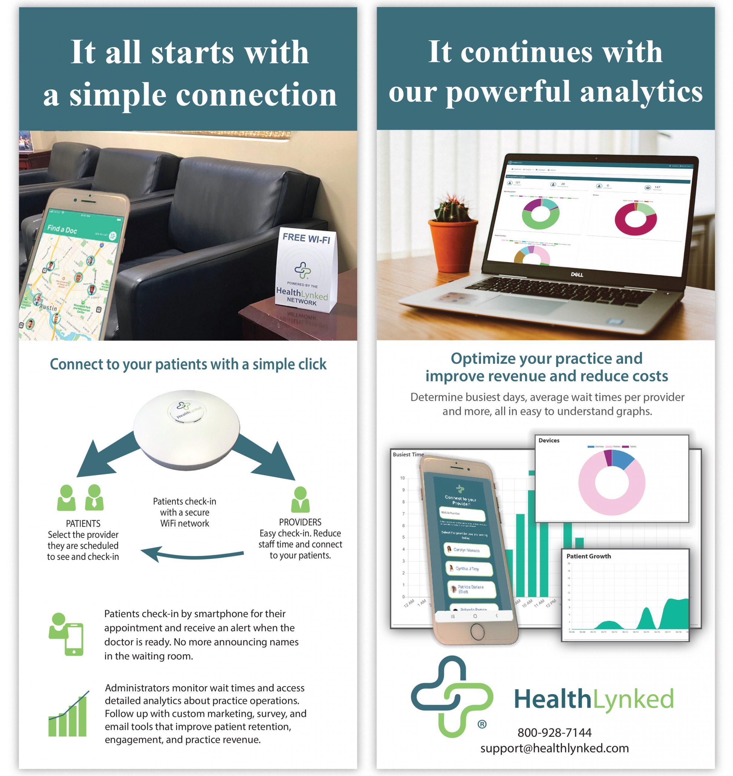 HealthLynked Hub rackcard