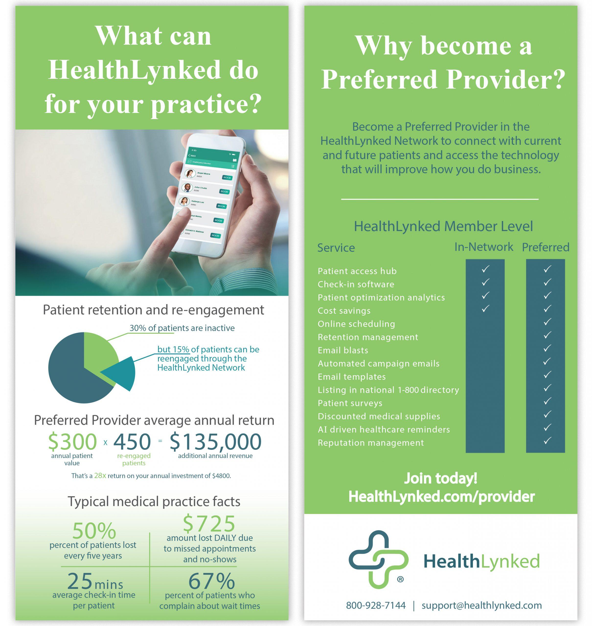HealthLynked Provider rackcard