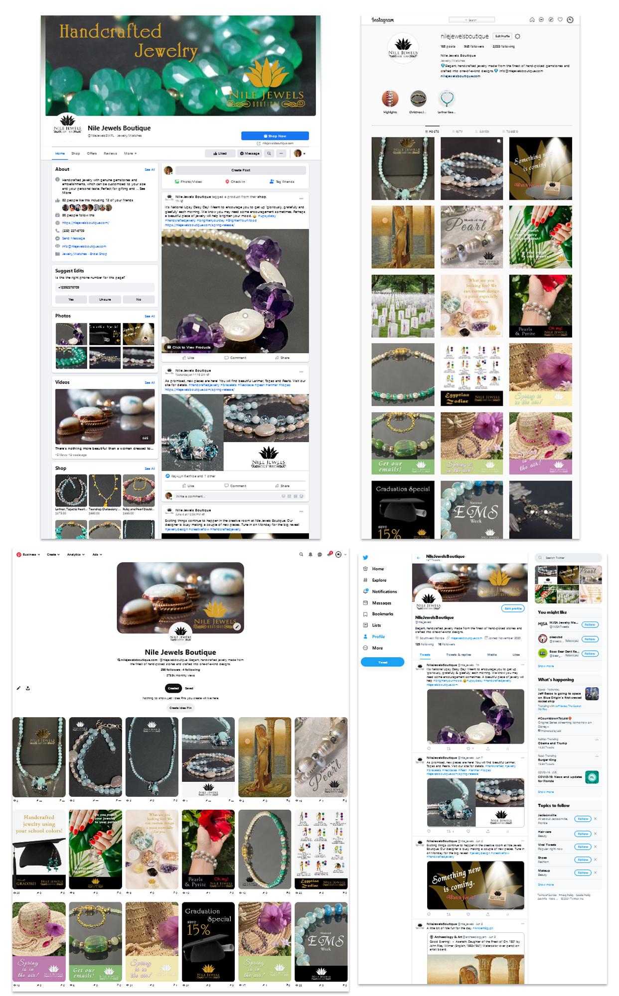 Nile Jewels social media