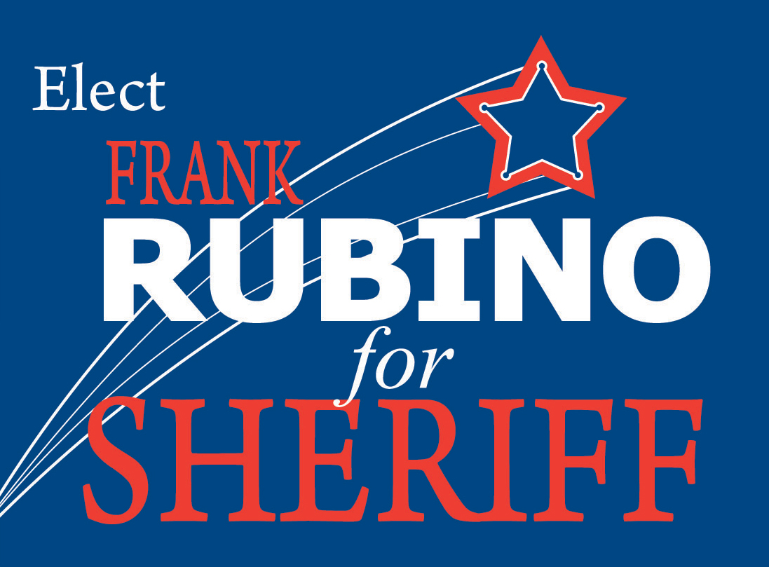 rubino for sheriff sign