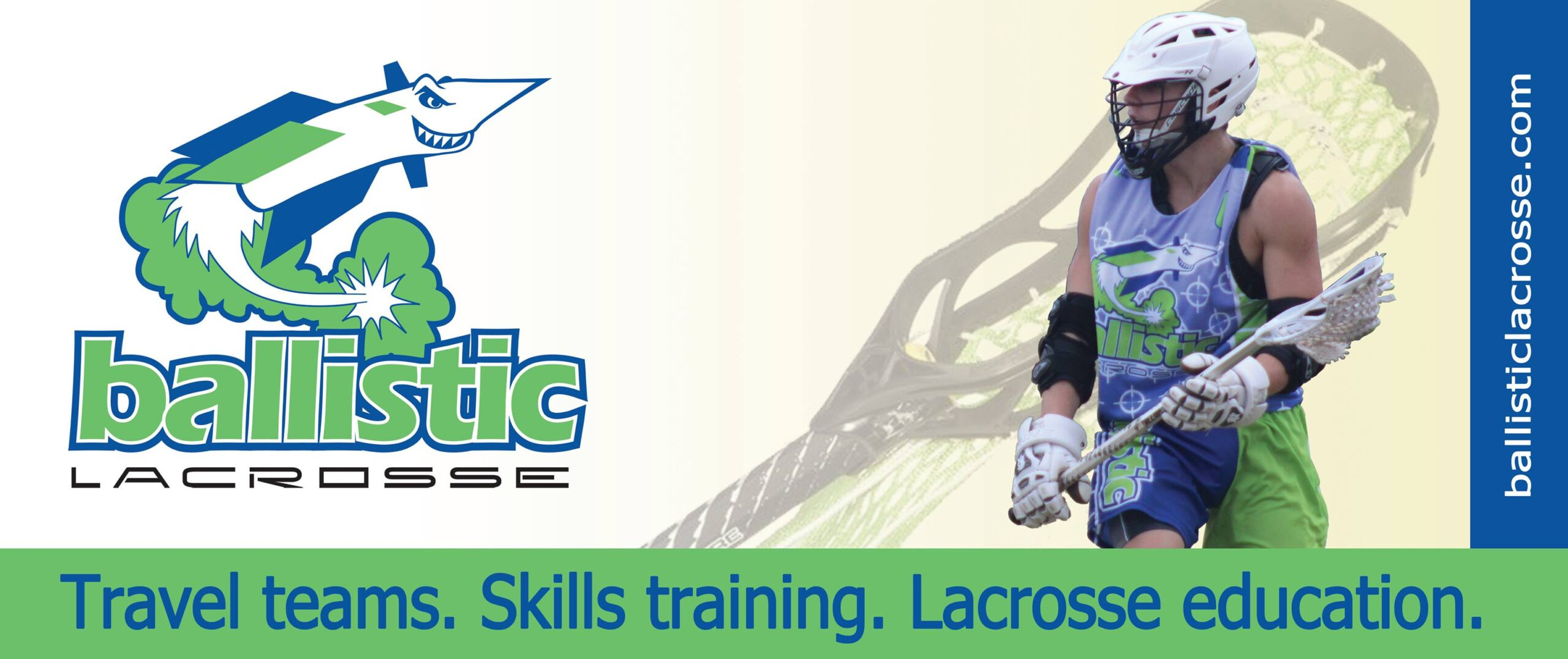 Ballistic Lacrosse banner ad