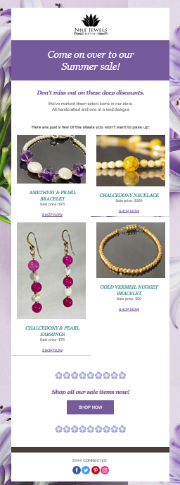 Nile Jewels Boutique email